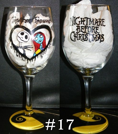15.00. The Nightmare Before Christmas wine glass
