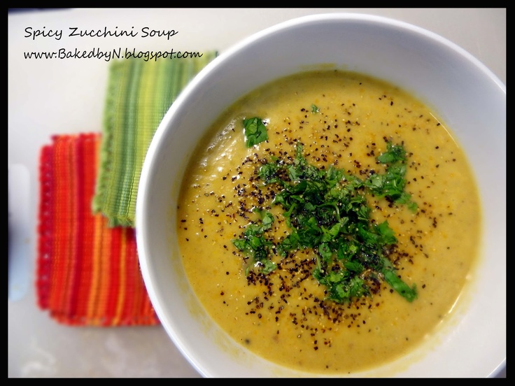 Spicy Zucchini Soup | Eat, Drink and be Merry | Pinterest