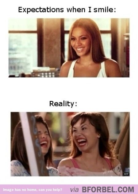 Smiling: Expectations VS Reality