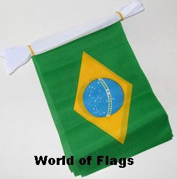 brazil and usa flag