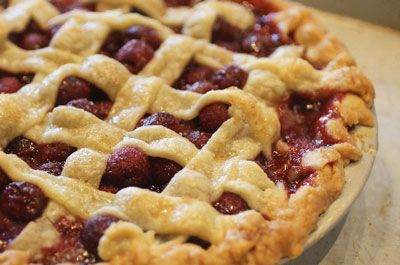Sour Cherry Pie Recipe - Saveur.com | Main Dishes | Pinterest