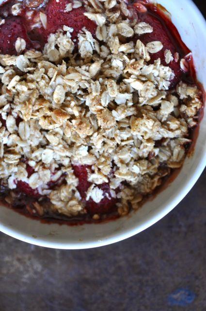Strawberry Granola Crisp For Two | Recipes I need... | Pinterest