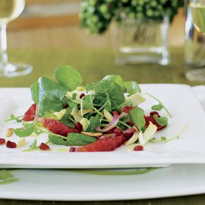 Watercress Endive Salad with Blood Oranges and Pomegranates | Recipe