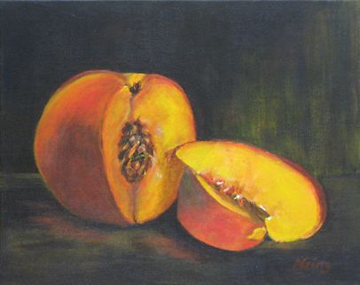 Perfect Peach | Paintings by Nancy E. Ging | Pinterest