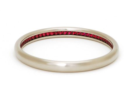Ball Track bangle - Sean O'Connell -    Stainless steel, ruby ball bearings