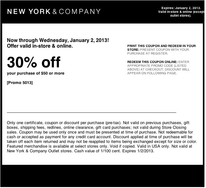 New york discounts and coupons