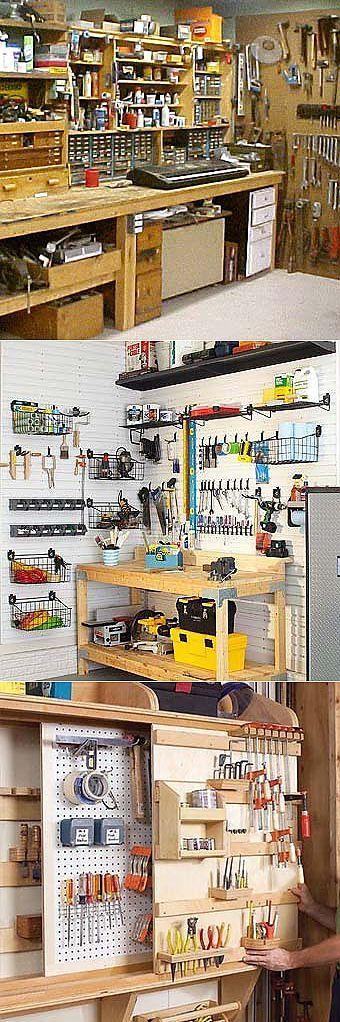 Органайзер для инструментов в гараже
