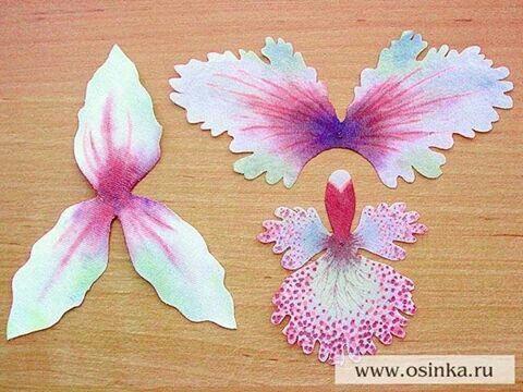 Цветы из бумаги из ткани