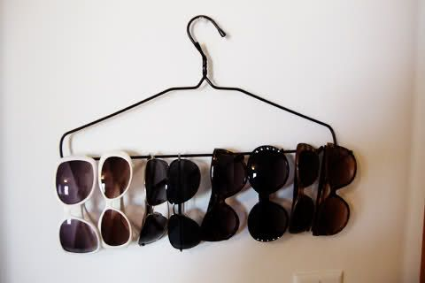 Hanging sun glasses.