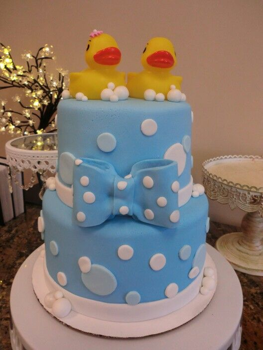 rubber ducky baby shower cake frosted cakes pinterest