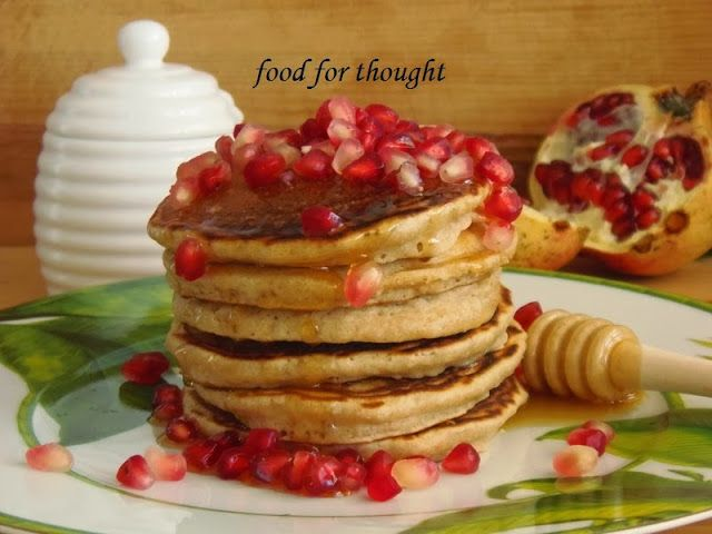 Coconut and pomegranate pancakes | Favorite Recipes | Pinterest