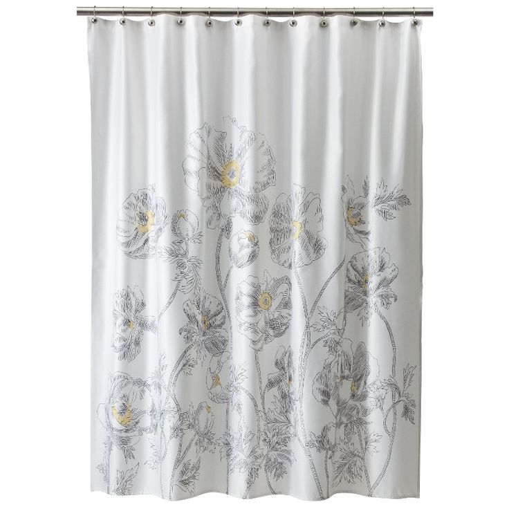 Standard Curtain Rod Sizes JCPenney Shower Curtains