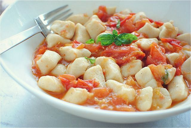 Homemade Gnocchi with a Roasted Tomato Sauce | Bev Cooks