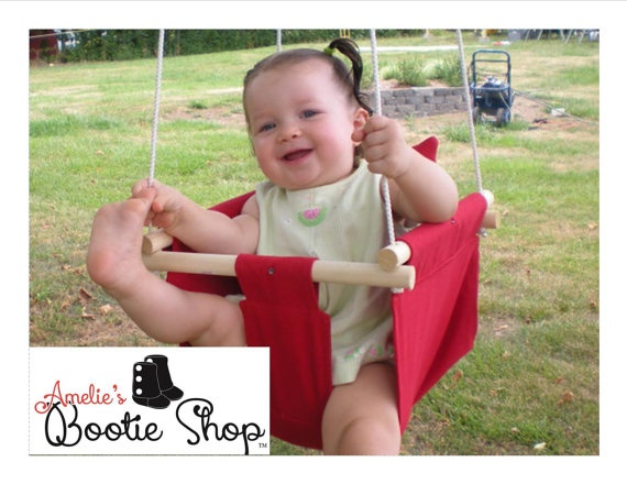 Outdoor or indoor fabric baby infant tree swing to toddler swing