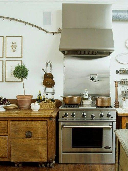Rustic white kitchen Home Pinterest
