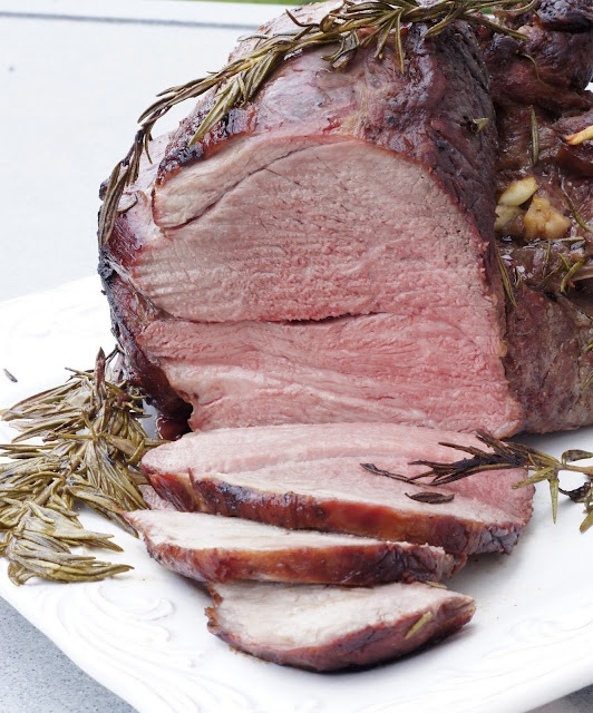 Thyme: BBQd Leg of Lamb with Rosemary and Honey