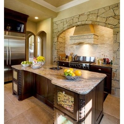like the cut out rock wall kitchen ideas pinterest