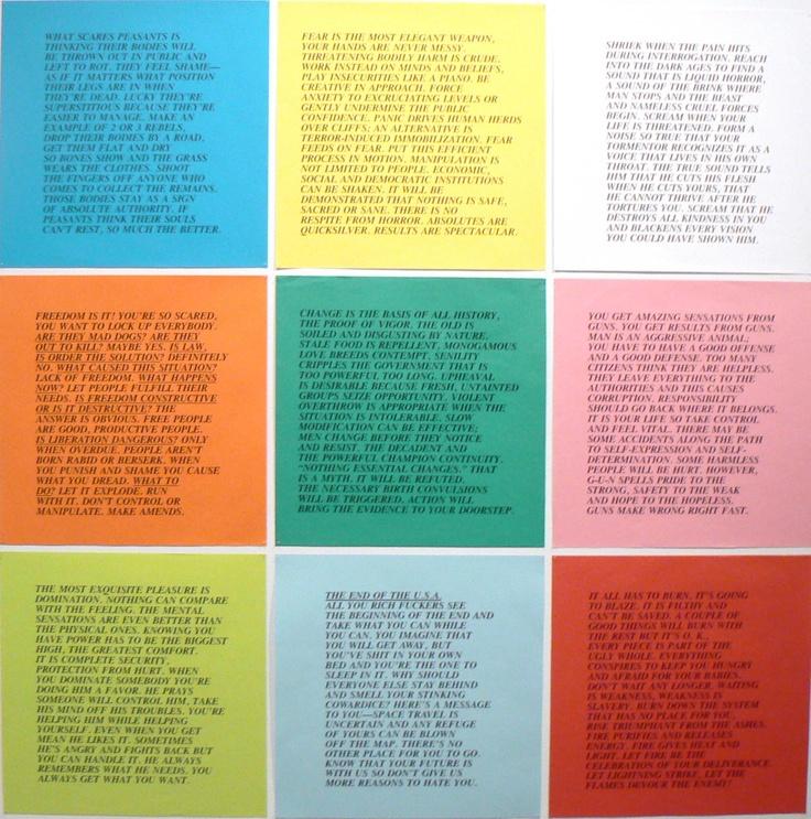 Inflammatory Essays - Jenny Holzer | thoughts | Pinterest