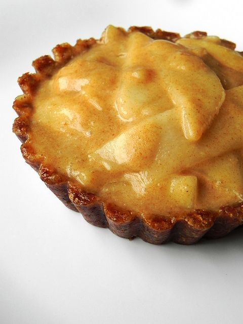 Almond Pear Tartlets with Cinnamon-Caramel Cream | Recipe
