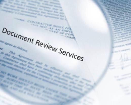 Document review services