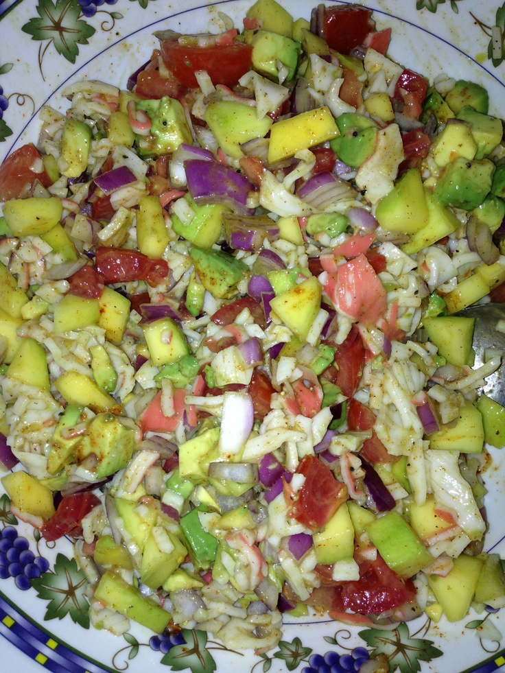 and avocado salad joinmefordinner crab salad with avocado and mango ...