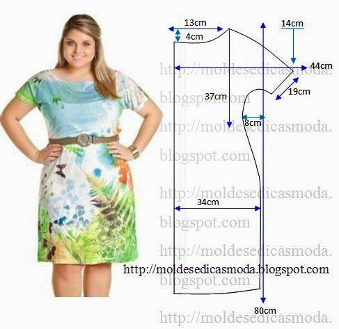 Moldes Moda por Medida: VESTIDO FACIL DE FAZER - 40 Sivenje Pinterest Summer, Vestidos and Casual