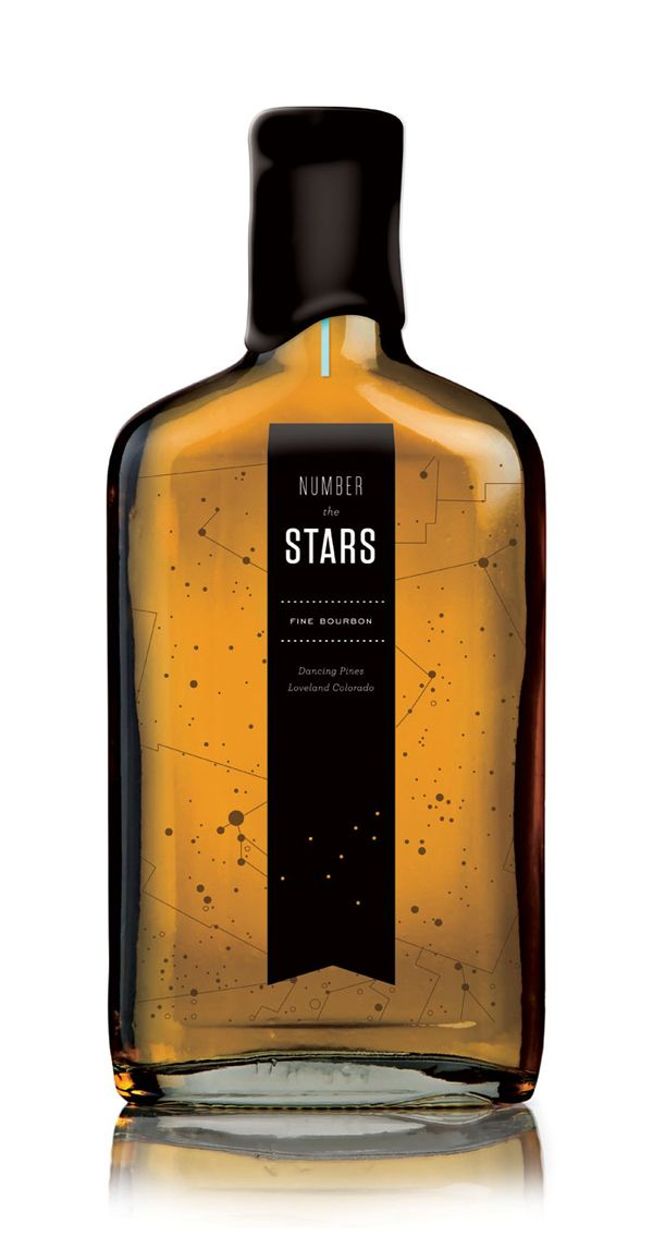 """""""number the stars"""" bourbon packaging for dancing pines distillery"""