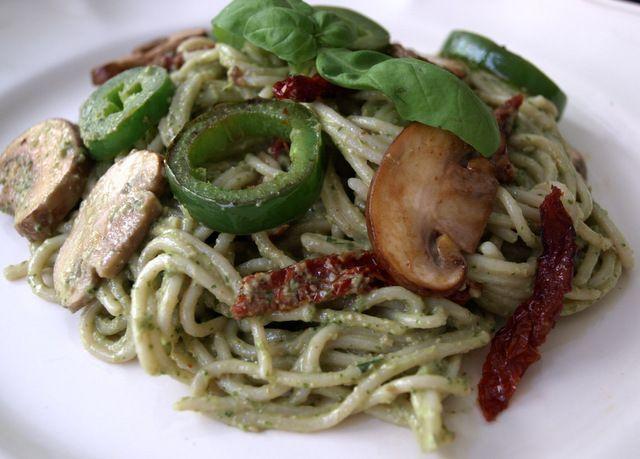... : Walnut Basil Pesto with Mushrooms, Jalapeno's & Sun-Dried Tomatoes