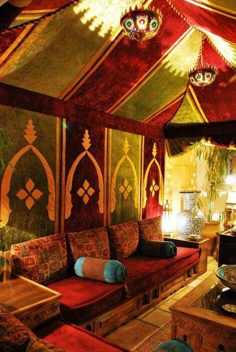Moroccan tent decor Decadent Decor Pinterest