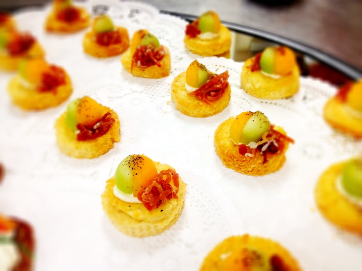 Pin canape image search results on pinterest for Prosciutto and melon canape