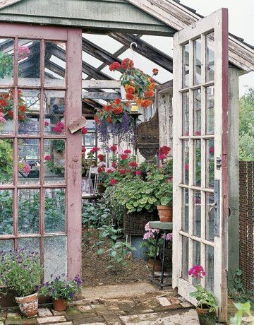 Lovely Shabby Chic Greenhouse