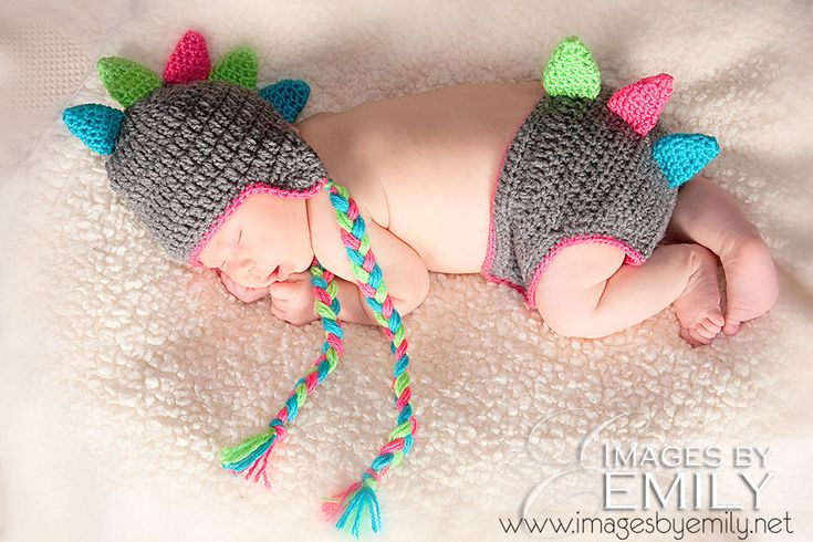 Crochet Dinosaur Hat And Diaper Cover Pattern : Dinosaur Animal Hat and Diaper Cover SET -- Infant Crochet ...