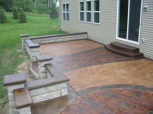 Raised Stamped Concrete Patio