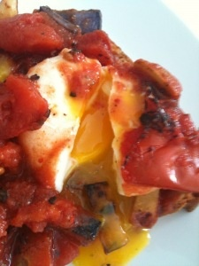 Eggs baked with Spiced Tomatoes & Pan Fried Fingerling Potatoes ...