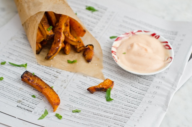 oven-roasted butternut squash fries with sriracha mayonnaise | Art ...