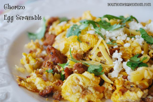 Chorizo Egg Scramble. Spice up your eggs @Leigh Anne, Yourhomebasedmom ...