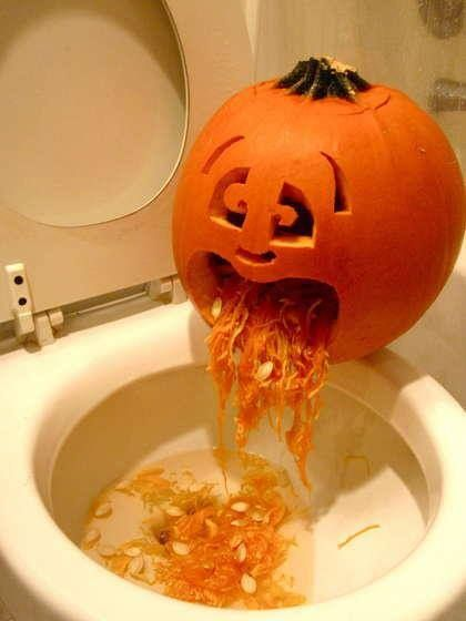 Halloween-Crafts ideas-Sick Jack-O-Lantern