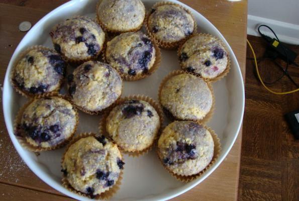 Laura's Cornmeal Blueberry Muffins | VegWeb.com, The World's Largest ...