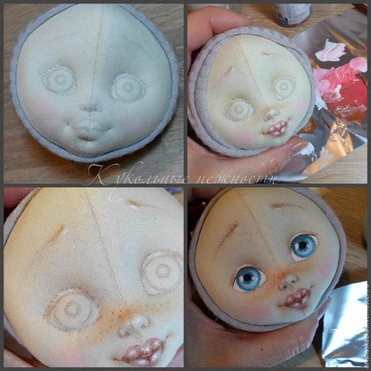 Лицо для куклы своими руками мастер класс