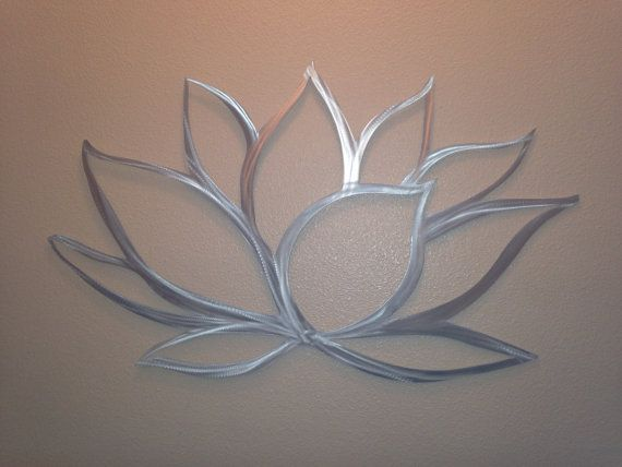 Wall Art Lotus Flower : Lotus flower metal wall art