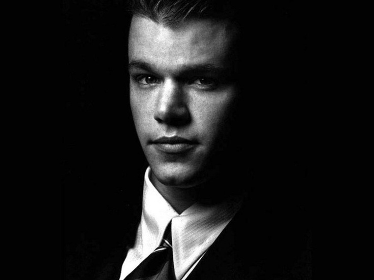 Matt damon black and white suit young we must see it for Matt damon young