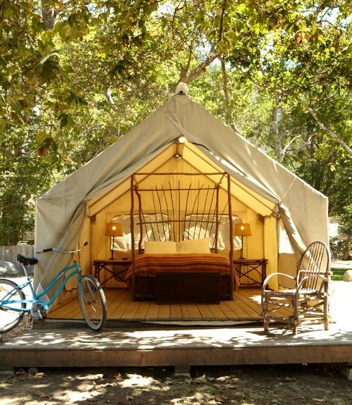 Glamping in california california pinterest for Woods prospector tent