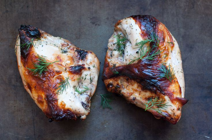 Buttermilk roasted chicken. The buttermilk gives the chicken a ...