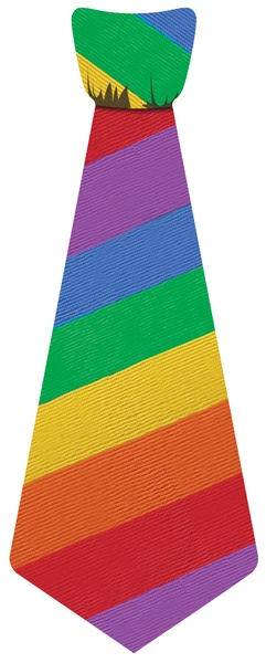 Show everyone how #colorful you are with this #vibrant, #gay, festive Big Guy StickyTie! $6.50