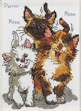 CHARMING CAT-A-TUDE TO WARM THE HEART! These facinating and fastidious felines show-off their engaging nine-lives purr- sonalities. This Suzy's Zoo Counted Cross Stitch irresistable four legged friends design is by ©2006 Suzy Spafford. Made under license from Suzy's Zoo®, San Diego, CA USA