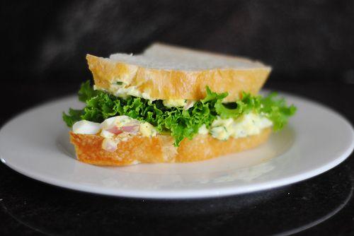 egg salad sandwich with tarragon | Foodie's Food | Pinterest