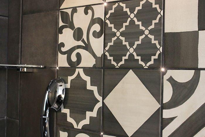 Carreaux de ciment decor pinterest - Carreaux de ciment noir et blanc ...