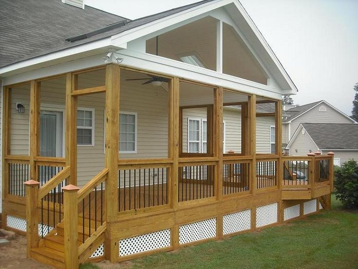 Gable porch outdoor decor porches decks pinterest Shed with screened porch