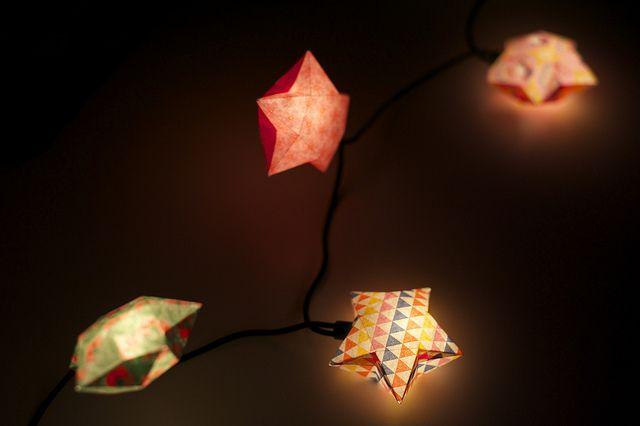 guirlande lumineuse origami c 39 est moi qui l 39 ai fait pinterest. Black Bedroom Furniture Sets. Home Design Ideas