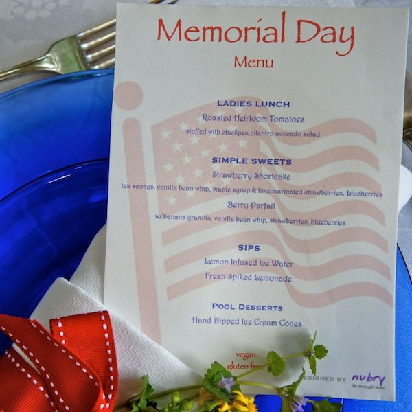 memorial day menu healthy